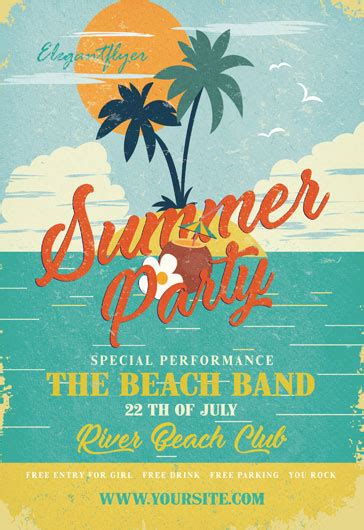 Free Summer Flyer Templates Psd By Elegantflyer Summer Flyer Templates