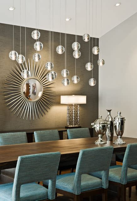 Modern Lighting Dining Room | tyrol hills modern midcentury dining room minneapolis by peterssen keller architecture