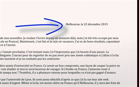 text layout en francais writing an informal letter personal writing french vce