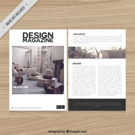 decoration magazine template vector free download