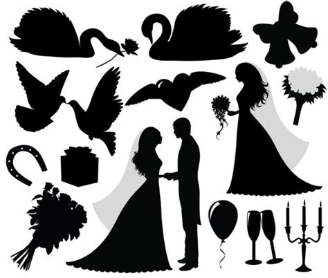 free clip art graphic design tips school wedding 4 designer wedding silhouette 02 vector material