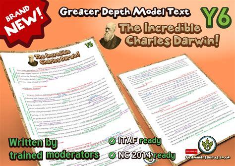 biography ks2 sats new year 6 greater depth model text charles darwin
