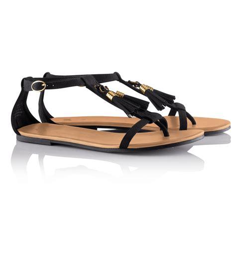 sandal in black h m sandals in black lyst