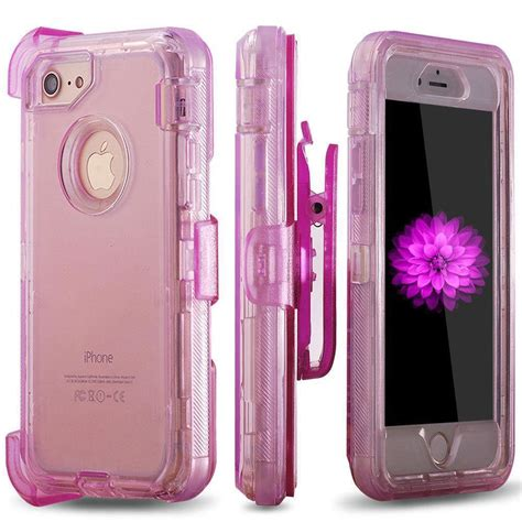 iphone x 8 7 6 plus heavy duty armor clear defender cover fit otterbox clip ebay