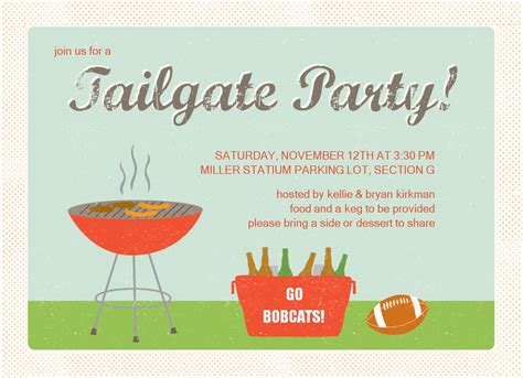 Bbq Tailgate Party Invitation Tailgate Template