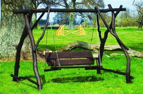 swinging sofa garden garden swings rustic porch swings
