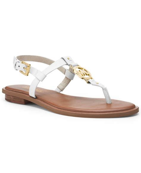 michael kors shoes michael kors michael sandals in white lyst