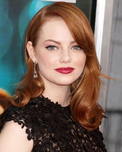 emma stone lipstick pair it with liner fall 2011 makeup trends instyle com