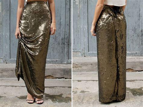 diy sequin maxi wrap skirt teach a to sew