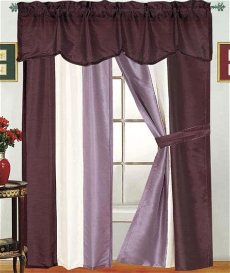 5 piece window curtain sets contempory 5 piece reflection window treatment curtain set