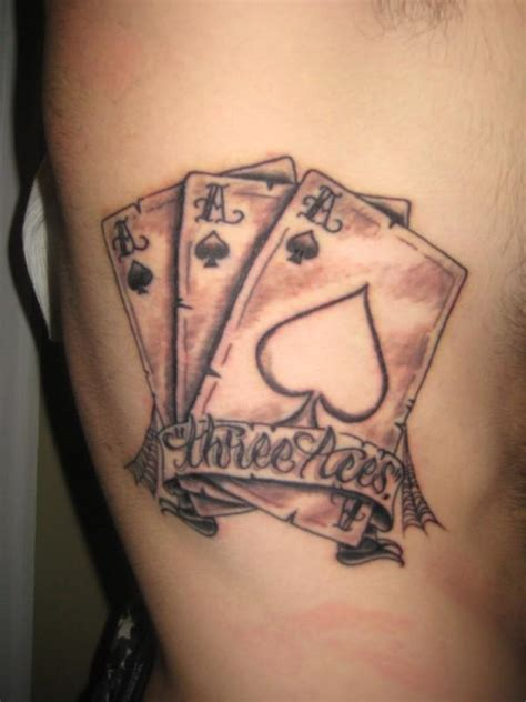 poker card tattoos designs pin ace symbol tiny card symbols on