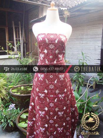 Sogan Cape Kupu jual kain batik cap tulis jogja motif kupu anggur maroon