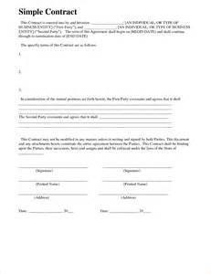 Basic Service Agreement Template by 7 Basic Contract Templatereport Template Document