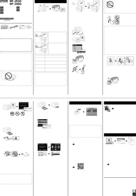 Handleiding Epson WorkForce WF-2650 (pagina 1 van 2