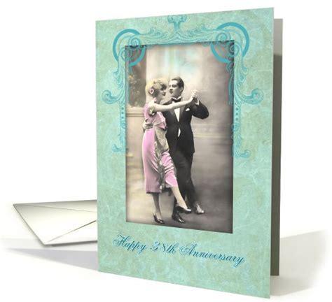 happy 38th wedding anniversary, vintage dancing couple