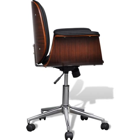 faux leather swivel chair faux leather swivel office chair w wooden frame buy
