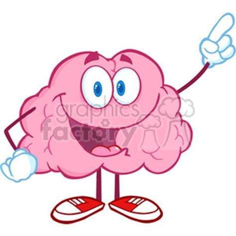 Brainwave Eliminate Finger royalty free 5864 royalty free clip happy brain character pointing with a finger 388913