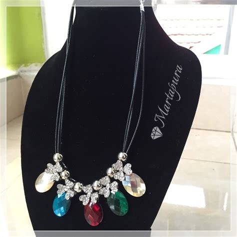 Kalung Tali Fashion Wanita jual beli kbe241 kalung tali aleksandri baru jual beli
