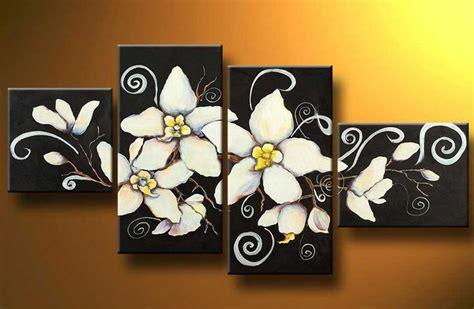 imagenes de flores modernas cuadros abstractos tripticos dipticos flores modernas