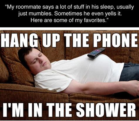 Housemate Meme - deep thoughts from a sleeping roommate strange beaver
