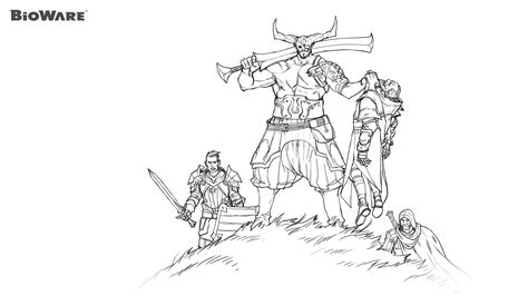 dragon age coloring page coloring age 2 bioware blog