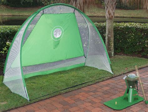 backyard golf net teego backyard driving range the green head