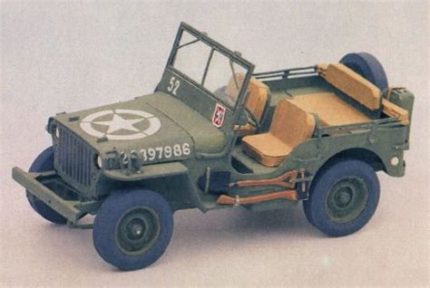 Papercraft Jeep - wwii willys mb jeep ver 3 free paper model