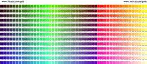 tavola colori html realizzazione siti web teoria colore tavola dei colori