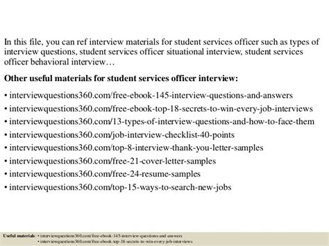 Emergency Room Social Worker Cover Letter by Top 10 Student Services Officer Questions And Answers