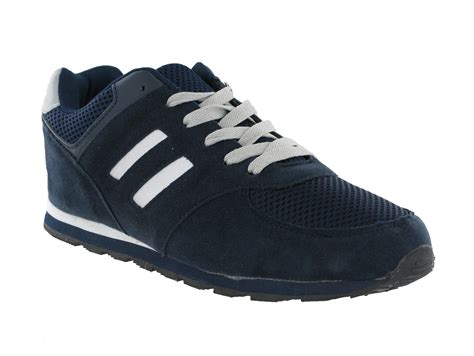 new mens casual joggers lace up sports trainers shoes size