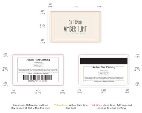 Gift Card Dimensions - design and sell custom gift cards at your retail store