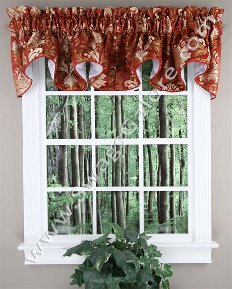 Burgundy Kitchen Valances Doris Lined Scalloped Valance Burgundy Rhf Kitchen Valances