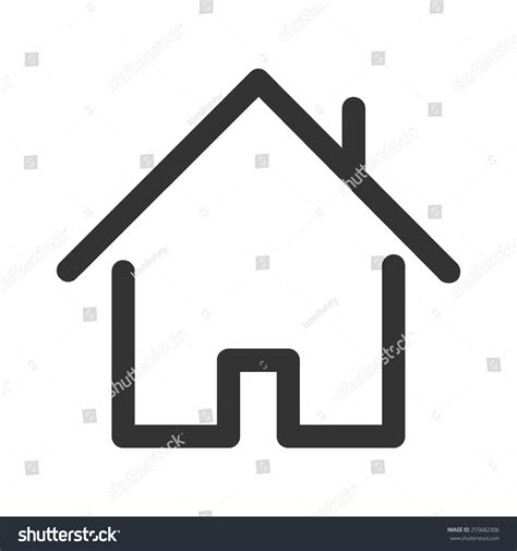 home vector image be used web stock vector 255682306
