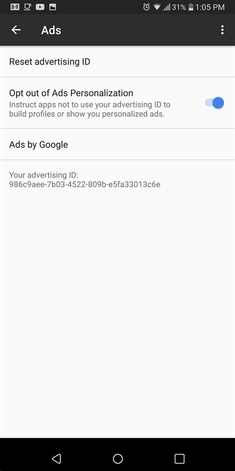 disable ad tracking on android - Ad Tracking Android