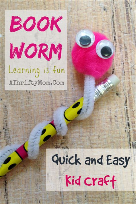 kid and craft book worm and easy kid craft craft a