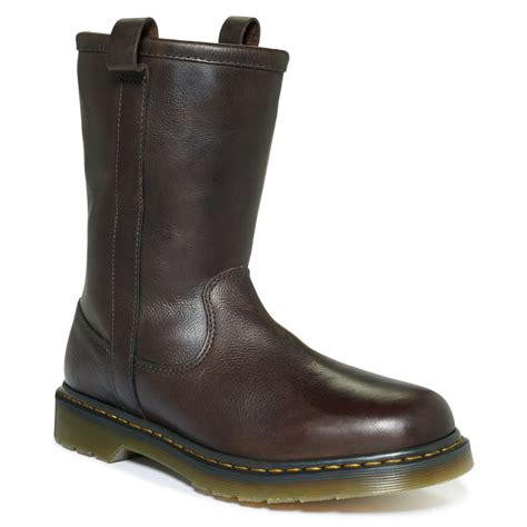 in rigger boots dr martens idris rigger boots in brown for