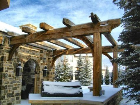 reclaimed wood pergola create an outdoor room with a pergola the denver post