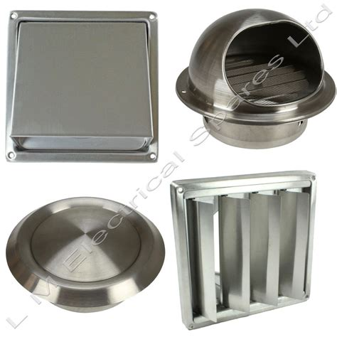 bathroom fan vent cover stainless steel wall air vent metal cover outlet exhaust
