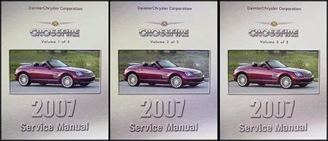 car maintenance manuals 2007 chrysler crossfire on board diagnostic system 2007 chrysler crossfire repair shop manual set original