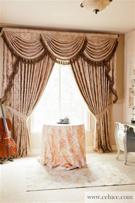 drapes and swags quot baroque floral quot elegant designer valance curtains with