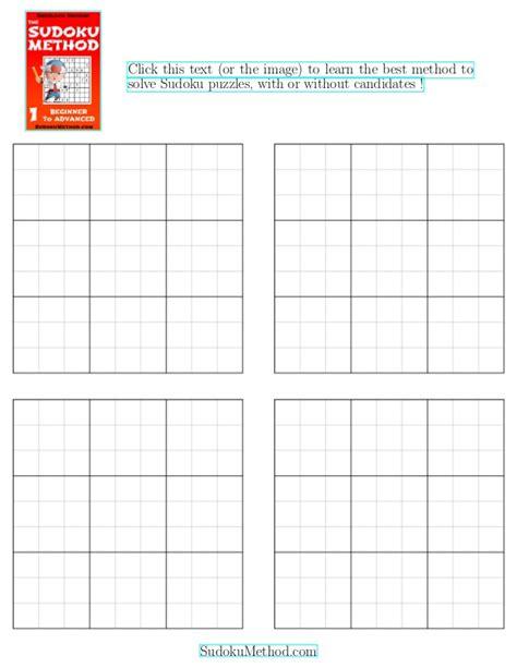 blank sudoku grid free printable blank sudoku grid four blank sudoku grids