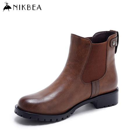 flat booties shoes aliexpress buy nikbea vintage chelsea boots