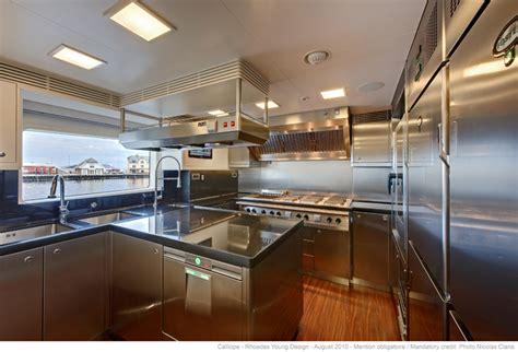 Western Kitchen Design ninkasi superyacht calliope galley luxury yacht