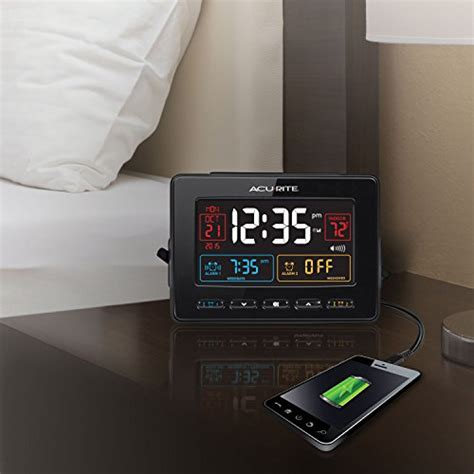 acurite 13024 atomic dual alarm clock with usb charging import it all