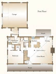 2 bedroom log cabin plans