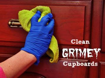 how to remove years of greasy build up from kitchen cleaning grimy wood kitchen cabinets can be tricky because
