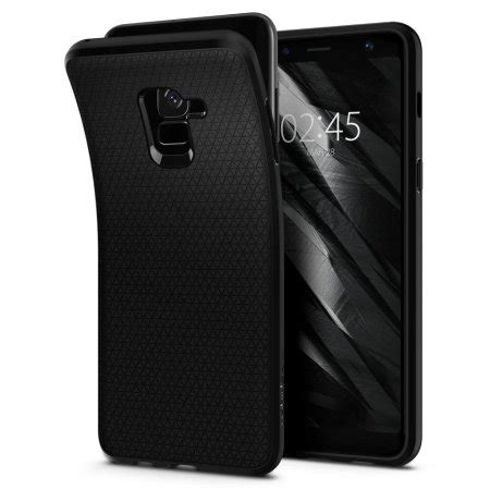 Original Spigen Liquid Air Armor Galaxy A8 2018 Matte Black coque samsung galaxy a8 2018 spigen liquid air avis