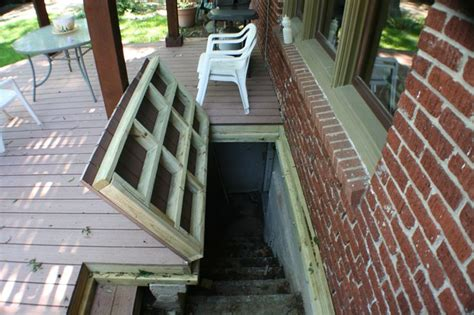 exterior basement stairs basement with enclosed outside stairs basement