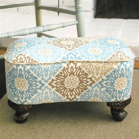 diy footstool ottoman upholstered footstool makeover diy furniture makeovers