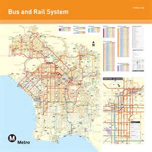 Los Angeles Transit Map by Artifact 5 Los Angeles Public Transportation Map